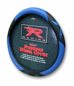 Plasticolor 6342 Black And Blue Steering Wheel Cover