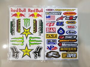 2 Rockstar Energy Stickers Vp Motocross Motogp Bike Auto Bmx Atv Metal Mulisha