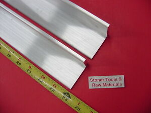 2 Pieces 2 x 2 x 1 4 Aluminum 6061 Angle Bar 24 Long T6 Extruded Mill Stock
