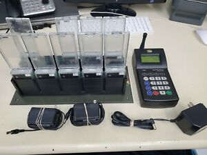 Lrs T7400 Long Range Paging System Restaurant Pager System 9 Pagers