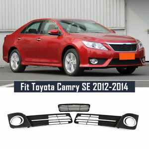 Fit Toyota Camry Se 2012 2014 Front Bumper Lower Grille Fog Lamp Cover Bezel Set