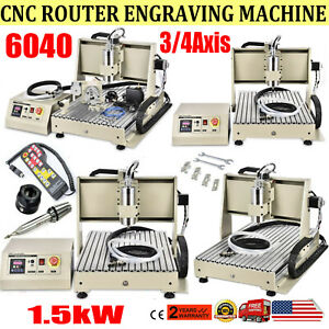 Usb parallel 3 4 Axis 1500w 6040 Cnc Router Engraver Machine Milling Handwheel