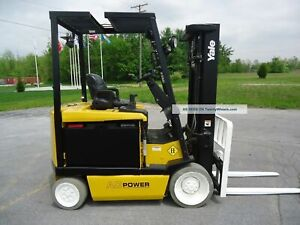 4x Refurbished 2016 Yale Erc065 Electric 4 Wheel Forklifts 6500lb Low Hours
