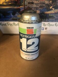 One New Old Stock R12 Genuine Refrigerant 14oz Can Auto Ac Air Conditioning