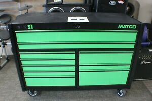 Green Matco 4s Two Bay Powered Rollaway 25 Tool Chest Box W Usb Ports Outlet