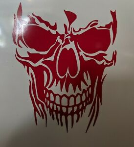 Evil Skull Sticker Scary Skeleton Decal Car Truck Window Vinyl Jdm Turbo