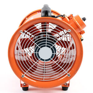 12 Extractor Fan Blower Portable Spray Booth Fume Utility Ventilation Exhaust