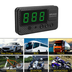 For Motorcycle Universal Digital Car Auto Gps Mph km h Hud Display Speedometer