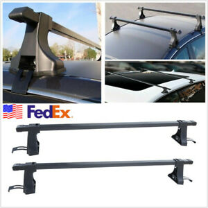 Pair Aluminum 48 Universal Roof Rack Cross Bar Cargo Carrier For 4 door Car Suv