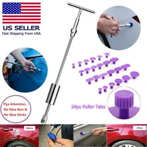 Paintless Car Auto Body Dent Repair Tool Kit 18pcs Blue Dent Puller Tabs Us