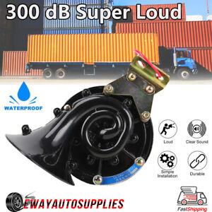 Universal 300db Loud Electric Snail Air Horn Trumpet Car Motorcycle Truck Train