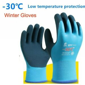 10 Pairs Winter Waterproof Work Gloves Cold proof Thermal Low Temperature