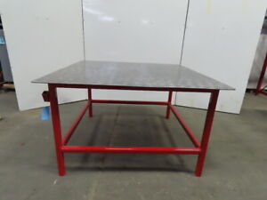 3 8 Thick Top Steel Fabrication Welding Table Work Bench 60 3 8x60 1 4x36 1 2