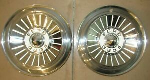Pair Of 2 1957 Ford Fairlane Galaxie 14 Hub Caps Hubcaps
