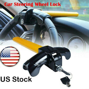 Universal Auto Anti Theft Car Security Rotary Steering Wheel Lock Us Sell