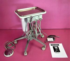 Aseptico Adu 22 Portable Pneumatic Dentist Dental Delivery Unit Control Stand