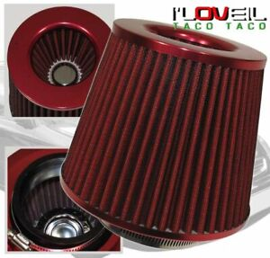 3 High Flow Washable Dry Cone Car truck Air Intake Filter All Red Scion Tc Xb