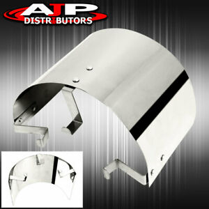 Universal Cone Ram Air Intake Filter Stainless Steel Heat Shield Cover 2 5 4