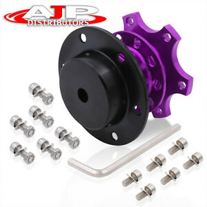 6 Bolt Purple Competition Zero Play Style Quick Release Steering Wheel Snap Off