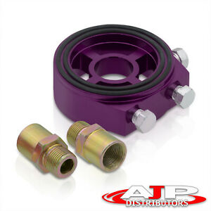 M20x1 5 Oil Pressure Gauge Filter Sandwich Adapter Plate Sensor 1 8 Npt Purple