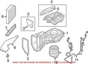 Genuine Oem Cabin Air Filter Cover For Audi 4h0819422a