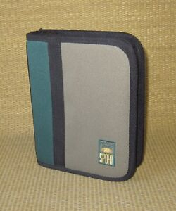 Compact Franklin Covey Green brown Durable Sport 1 Rings Zip Planner binder