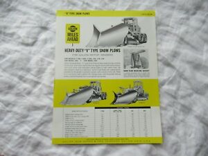 Galion V Type Snow Plow Specification Sheet Brochure