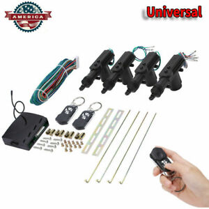 4 Door Car Central Power Door Lock Unlock Remote Kit 2 Keyless Entry Universal