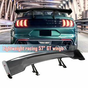 Universal 57 Type 3 Carbon Fiber Abs Adjustable Rear Trunk Gt Spoiler Style Wing