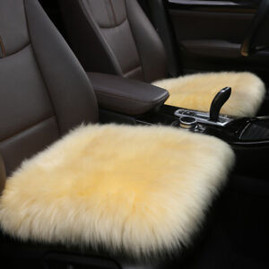 Long Wool Fur Sheepskin Car Seat Covers For Universal Size Car Seat Cushion