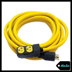 25 Ft 30 Amp 125 250 Volt Generator Extension Cord Wire Connector Cetl Certified