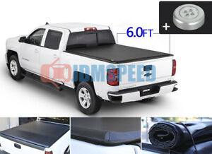 6ft Bed Roll Up Tonneau Cover Soft Fits For 2016 2017 2018 2019 2020 Tacoma
