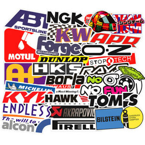 100pcs Vinyl Jdm Stickers Pack Motorcycle Racing Motocross Helmet Car Decals Lot