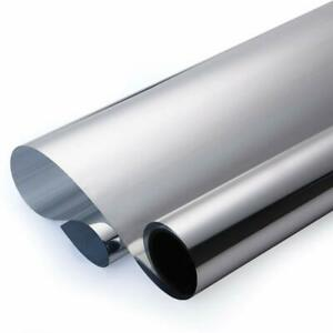 Reflective Silver Chrome Mirror Tint Film 30 X10 Feet Privacy Uv Reduce Heat Ac