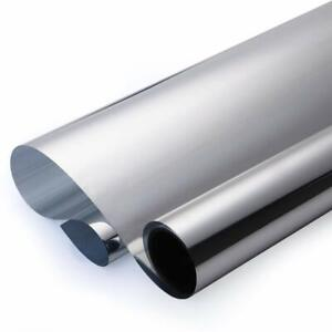 Reflective Silver Chrome Mirror Tint Film 30 X25 Feet Privacy Uv Reduce Heat Ac