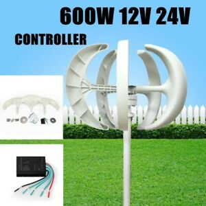 600w Lantern Shape Wind Turbine Generator Unit Dc 12 24v Home Power Energy White