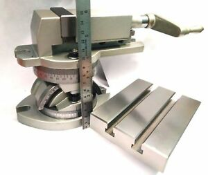 2 50 Mm Jaw Width Modular Milling Machine Vise Vice Tilting Table 4 X 5