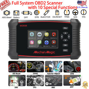 Md698 Automotive Obd2 Scanner Full System Auto Car Diagnostic Tool Abs Oil Srs