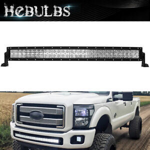 Curved 40 42 Inch Led Work Light Bar For 2017 2019 Ford F250 F350 Front Bumper