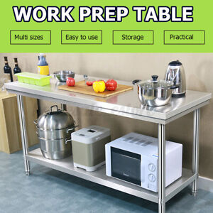 Stainless Steel Commercial Kitchen Counter Work Table Restaurant