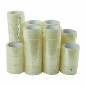 36 Roll X 110 Yards 3 Inch Packing Tape 2 Mil Sealing Clear Shipping Box Tape