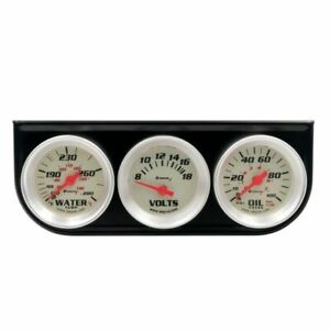 Equus 1 1 2 Inch White Mechanical Triple Gauge Kit With Voltmeter Equus 8100