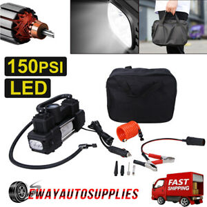 110psi 12v Air Compressor Motorcycle Electric Tire Air Inflator Pump Portable Us
