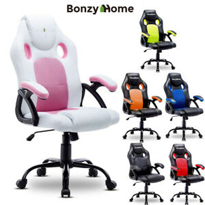 Ergonomic Gaming Chair Computer Swivel Desk Seat Office Executive Pu Leather