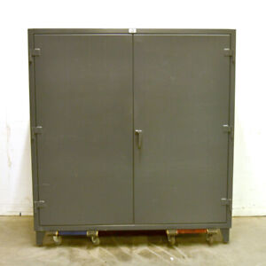 Strong Hold 66 244g 12 gauge 4 shelf 72 x24 x72 3 point Lock Industrial Cabinet