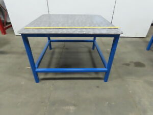 48 X 48 X 32 Tall Steel Top 3 8 Welding Assembly Fabrication Bench Table