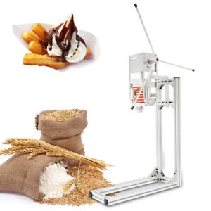 3l Stainless Steel Commercial Manual Spanish Churro Making Machine W 5 Nozzles