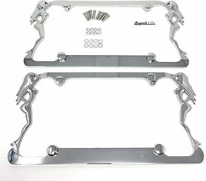 Superb Lnf Exotic Sexy Dancers Girl License Plate Frame Chromeclear With Cap