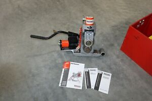 Used Ridgid 918 Hydraulic Pipe Roll Groover 2 6 For 300 Pipe Threader