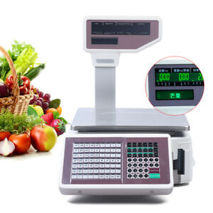 Digital Weight Scale Retail Food Meat Scale Price Computing thermal Label Print